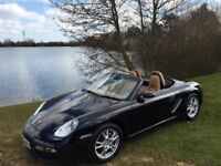 immaculate condition Porsche Boxter 987, black with tan suede interior