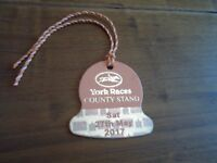 YORK races county stand badge for entry on Saturday 27th May