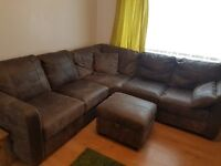 5 Piece Corner Sofa and Foot Stool (Just 2 months old!!!)