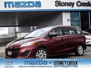 2015 Mazda MAZDA5 GS, 0.65% FIN, CERTIFIED PRE-OWNED,ONE OWNER!