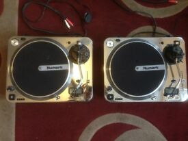 2x Newmark TT1* Original Direct Drive Turntables with Digital Display.