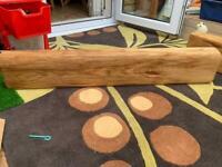Solid oak beam/ log burner/ open fire/ fire mantle