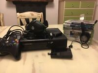 This Xbox 360 with games controllers headphones and extra storage.