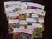 Job lot/bundle of Gardens Illustrated Magazine.