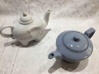 2 Medium Sized China Tea Pots