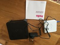 Sky hub router and wireless booster. Cables and instructions for set up included