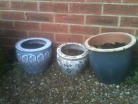 COLLECTION OF PLANT POTS