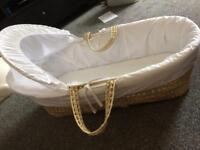 Moses basket and mothercare mattress