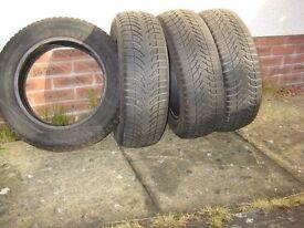 Michelin Alpin winter tyres - set of 4. 185/65 R15