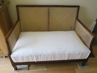 Victorian Antique Begere two seater cane lounge settee/sofa