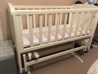 Mothercare gliding crib and mattress