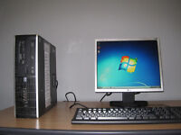 HP 6005 Pro PC Tower, 4GB, 250Gb, Windows 7, 17 inch LCD, keyboard and mouse