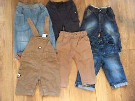 boys trousers bundle 9-12 months