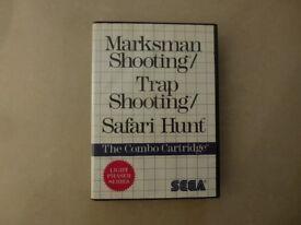 Marksman & Trap Shooting Shooting Safari Hunt for Sega Master System - Birthday Christmas Present