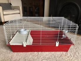 Ferplast Guinea Pig small Rabbit 100 indoor cage red