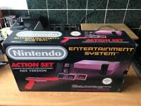 Nintendo nes boxed action set console
