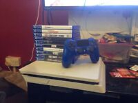Playstation 4 with 10 games