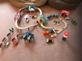 Children's Wooden Toy Railway Play Set