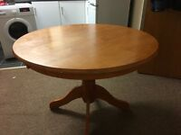Round table for sale .
