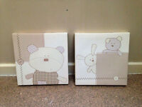 """2 childrens canvas's both size 10"""" x 10"""""""