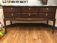 Stag sideboard/dressing table incl stool