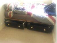 Standard Double Divan bed frame 4ft6 x 6ft3 (135cm x 190cm) (mattress not included)