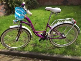 "Beautiful BICYCLE perfect for girl 6-12 y.o. with 24"" wheels"
