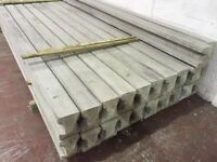 Concrete fence post, base panels