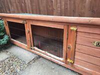 Wooden rabbit hutch just £10!