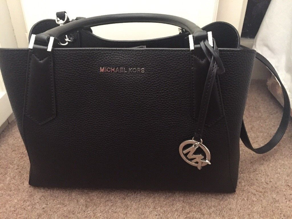 Michael kors genuine black large handbag with receipt unwanted present never  used 94680e6853b52