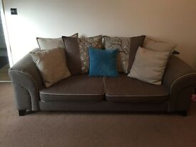 DFS 3 Seater Sofa, 2 Arm Chairs & Foot Stool