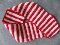 Crocheted scarf / crocheted collar / neck warmer