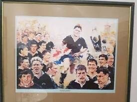 Scotland Rugby Print