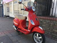 PIAGGIO VESPA LX 125cc IE 3V DRAGON RED STUNNING 2014 LOW MIELAGE HPI CLEAR!!