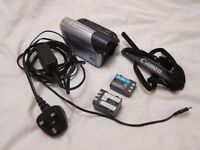 Canon MD205 MiniDV Camcorder. Widescreen, PAL, digital video, 36x zoom - immaculate