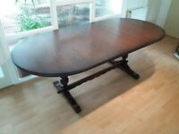 Dining table. Oak. Seats 8 to 10