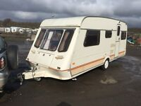 fleetwood garland 5 berth 1996 17ft hot and cold running water 3 way fridge carver fire cassette