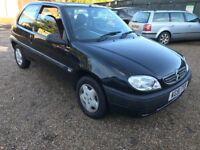 Citroen Saxo Forte 1124cc Petrol 5 speed manual 3 door hatchback 51 Plate 31/10/2001 Black