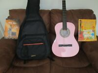 Pink Guitar and case