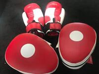 Boxing pads and gloves - brand new