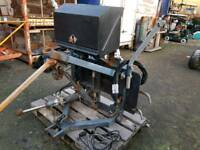 Snow plough lifting and tilting 24v hydraulic mounting frame