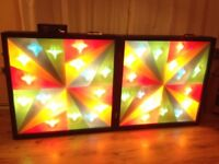 Showtec Kaleidopanel Disco lights including Controller, 3 leads and 40 Spare bulbs