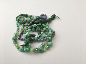 Gemstones - strands of green stones