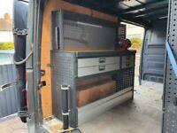 Mercedes Sprinter Van Internal Racking Storage and Workbench