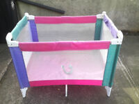 Carry/travel cot as playpen