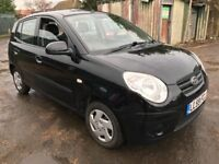 Kia Picanto 1 999cc Petrol 5 speed manual 5 door hatchback 59 Plate 30/11/2009 Black