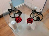 Metal Rose, stick on the walls or doors