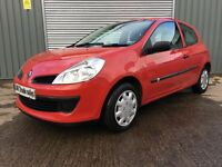 08 RENAULT CLIO 1.2 SE **FULL YEARS MOT** similar to fiesta golf focus civic 308 corsa punto megane