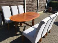 Drop leaf dining table and table