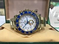 BrandNew Rolex Yachtmaster II Gold Automatic sweeping movement with box